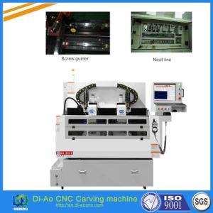 Mesa de Trabalho duplo gravura CNC para polir/perfuração/moagem/Chanfragem