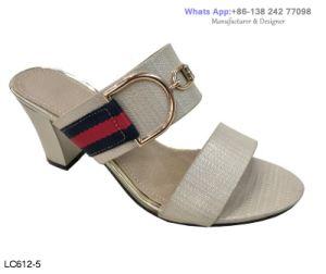 La mujer de bloque de moda diseñador de calzado de tacón alto sandalias zapatillas zapatos