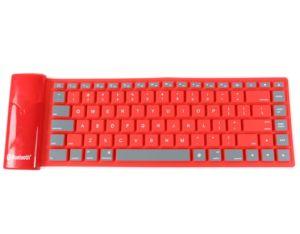 Étanche Portable Mini clavier sans fil Bluetooth 8-10 mètre de la portée du silicone pliable pour ordinateur portable/PC/ téléphone PC pour MacBook