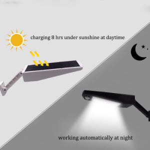 調節可能な48 LED 900lmの屋外の街灯の動きセンサーの太陽庭の壁ライト