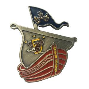 Fabrik-Verkaufs-eindeutige Gedenkmetallantike-Silber-Boots-Form-Kupfermünze (079)