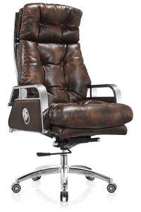 Pele de elevada qualidade poltrona reclinável cadeira de escritório ergonómico novo e moderno mobiliário de escritório 2018
