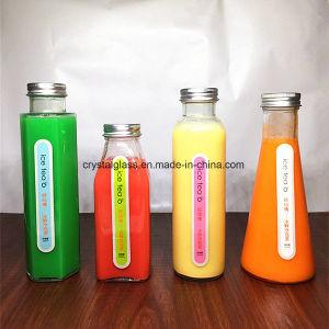 Hexagon-geformte Saft-Eis-Tee-Glasflaschen mit Schutzkappen-Getränkeverpackungs-Flasche
