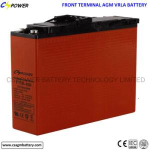 12V 100Ah Terminal Frontal de ciclo profundo de la batería de plomo ácido