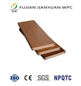 ASA-PVC Co-Extruded WPC Solid Bamboo un revêtement de sol Composite Decking carte en plastique