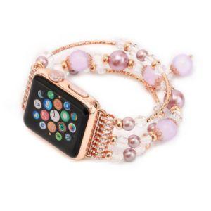Correa de Carnelian moda Apple para ver la serie 1 2 3 4 38mm 40mm 42mm 44mm Iwatch accesorios de la banda de ágata