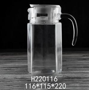 1580 ml 56oz tetera de vidrio al por mayor de la botella de cristal 1000ml Logotipo personalizado olla de agua de cristal (H220116)