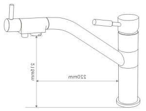 ROシステムDgB3311のための円形のデラックスな3つの方法台所コック