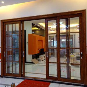 Gran pantalla de 3 metros de puerta corrediza de aluminio para la casa residencial
