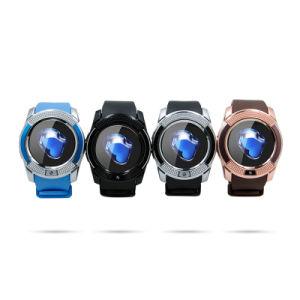V8 relojes Bluetooth Smart 1.22 pulgadas Smartwatch redondo reloj de pulsera Cool Smart-Watch Fitness con la tarjeta SIM del teléfono TF Ver