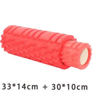 Rodillo de espuma de Yoga Masaje de punto flotante para fitness gimnasio en casa 2 en 1