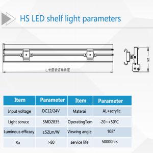 La degradación y el LED de bajo mantenimiento gratuito de estante de la luz de la etiqueta