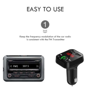 알리 최신 최신 판매 무선 MP3 선수 Bluetooth Handfree 차 장비 FM 전송기 이중 2.4A 차 충전기