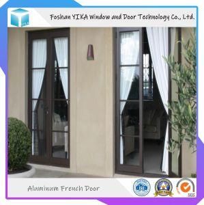 Portello di alluminio della stoffa per tendine di vetro Tempered di Sucurity di disegno del portello di entrata del patio doppio