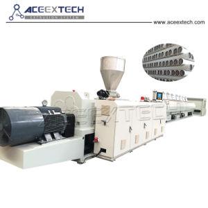 UPVC CPVC de plástico de doble tornillo de drenaje de agua&&Tubo conduit eléctrica Máquina de Producción Línea de extrusión