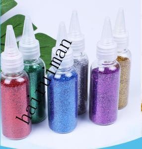 40g/1.41oz Shing Glitter Set Chi-Chi botellas de polvo de oro en polvo de polvo de plata en polvo polvo mágico de Flash de niños materiales DIY Nail Artesanía