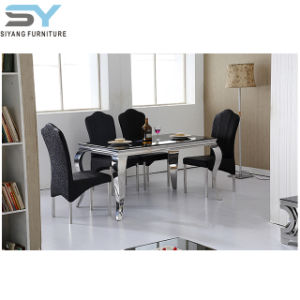 Mobiliário de jantar mesa de mármore Cadeira de jantar mesa de jantar de mesa