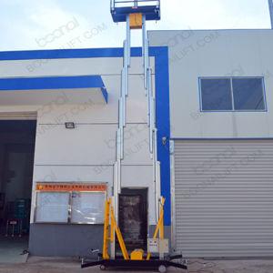 Elevatore doppio della piattaforma di lavoro aereo degli alberi della lega di alluminio (12m)
