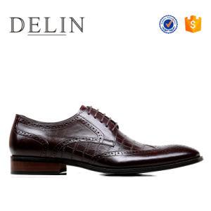 Prepárate una alta calidad de los hombres zapatos de cuero auténtico, los hombres negros, los hombres el Diseñador de Zapatos de Vestir Zapatos Derby