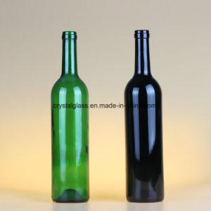 Fles 750ml van het Glas van de Wijn van de Kleur van de Kwaliteit van Hight de Donkere Lege Duidelijke