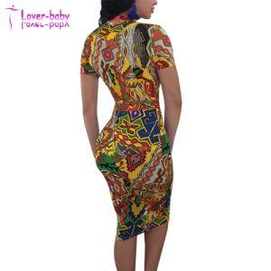 Amarillo colorido collar de la banda de cremallera Bodycon Clubwear vestido de fiesta
