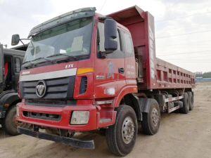 Foton Auman Twee van de Gebruikte van de Vrachtwagen Eenheden Vrachtwagen van de Tweede Hand 2015 de Vrachtwagen van de Stortplaats van het Jaar 380HP 8X4/de Vrachtwagen van de Kipper voor Hete Verkoop