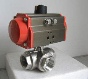 Valvola a sfera della flangia dell'azionatore pneumatico 2PC dell'acciaio inossidabile del getto