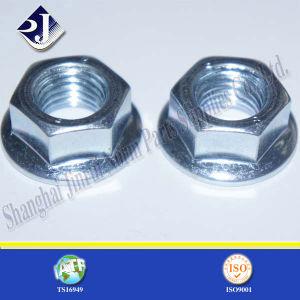 Noix Hex de bride de zinc de galvanisation
