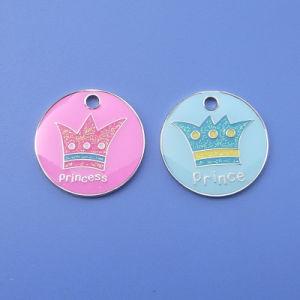 25mm Glitter Princess e Prince Dog Tag Whole in Cina Asny Craft Factory