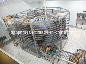 Bakeyのステンレス鋼のハンバーガーのパンの螺線形の冷却塔