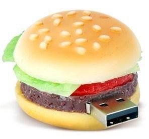 PVCハンバーガーUSB駆動機構のPendrives USBのフラッシュ・メモリ