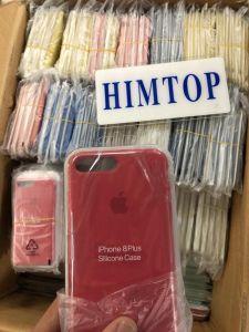 100%のオリジナルのiPhone7/8/8plusのための液体のシリコーンの電話箱を収容する携帯電話