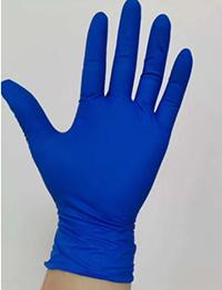 Examen jetables de gants en nitrile non poudrés, surface lisse