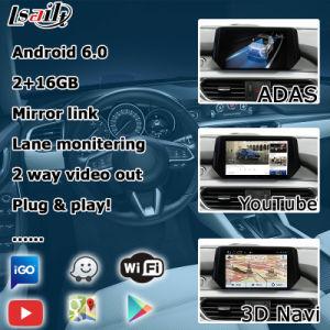 Android 6.0 Cuadro de navegación GPS para Mazda 6 Atenza Mzd conectar la interfaz de control de la perilla de Waze vídeo