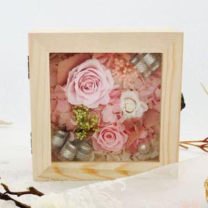 Houten Doos van uitstekende kwaliteit van de Gift van de Bloem van de Rozen van het Huwelijk de Bloemen Bewaarde