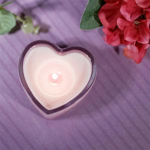 Aroma Red Rose Coração Vela titular de cristal com Conjunto de Oferta