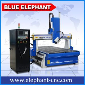 木製の切断のための高いZ軸の最もよい価格4の軸線3Dの彫版CNCのルーター機械