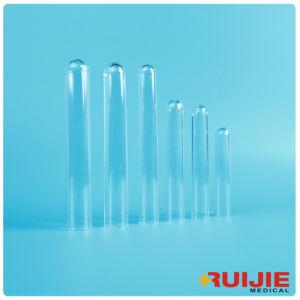 O tubo de ensaio de plástico de laboratório