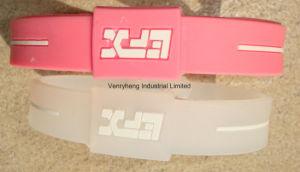 Braccialetto di gomma del silicone su ordinazione di energia dell'OEM della fabbrica per il regalo di promozione