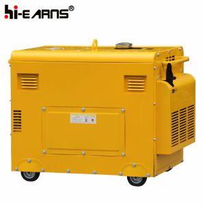 De luchtgekoelde Stille Diesel van het Type Groene Kleur van de Generator (DG6500SE)