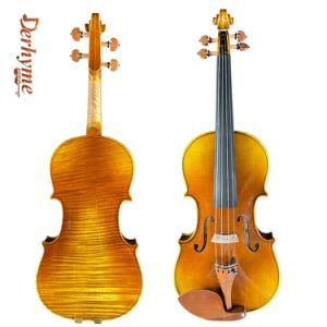 À la main de haut grade violon 4/4 arrière monobloc