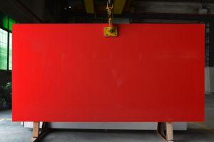 El cuarzo rojo de losas de piedra de cuarzo Artificial