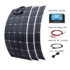 China 100W 18V 12V Sunpower Mono Semi panel solar flexible para RV barco yate Caravana Sistema de 12 V
