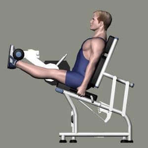 Forma fisica della strumentazione di ginnastica della macchina di concentrazione del martello per l'estensione del piedino (SMD-1002)