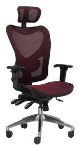ヘッドレストが付いている高い背部管理のナイロン基礎網のオフィスの椅子