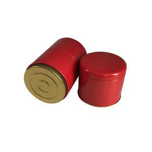 赤いカラー円形の金属の錫のマルチFuction錫の容器の卸売