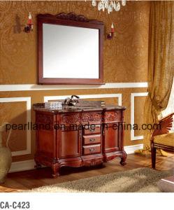 Salle de bains meubles en bois massif de luxe vanité –Salle de bains ...