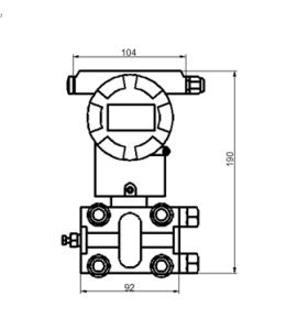 Transmissor de pressão diferencial inteligente com Acordo Hart