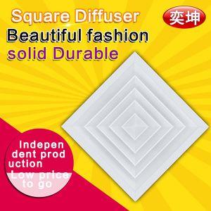 China Ningbo trabajo corriente directa de fábrica de aluminio Difusor cuadrado Difusor cuadrado