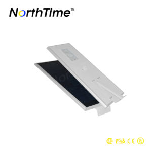 60W Sensor de movimiento PIR Panel solar Calle luz LED inteligente
